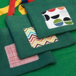 Green Hessian Shoulder Bag