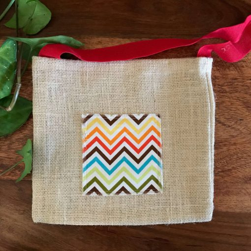 Natural Hessian Shoulder Bag