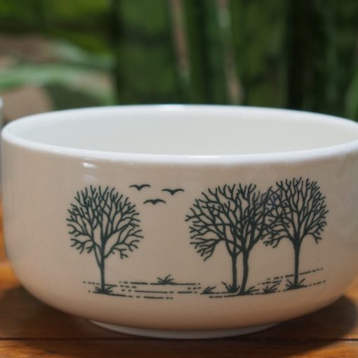 Vintage Churchill England Pottery Trees Pattern