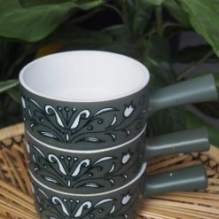 Made in Japan Green Patterned Ramekin Bowls