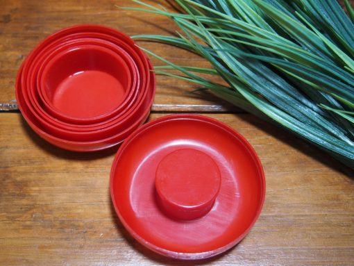 Vintage Red Collapsible Drinking Cup