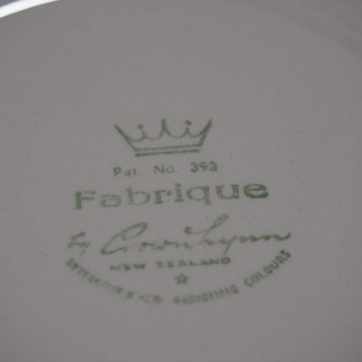 Crown Lynn Fabrique Pattern Bread Plates