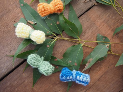 Hand Crocheted Ring with Decorative Crochet Bow