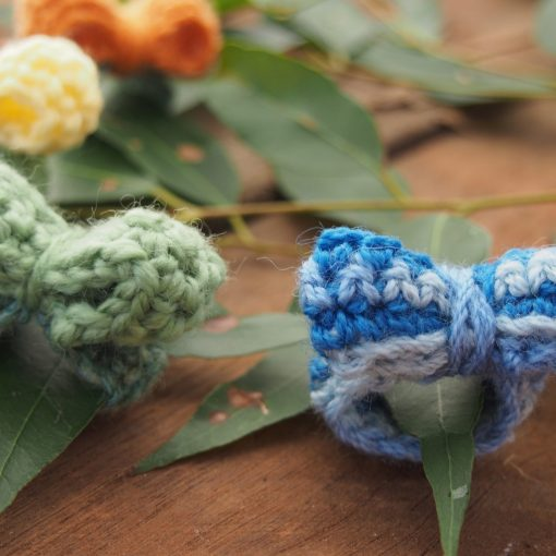 Hand Crocheted Rings with Bows