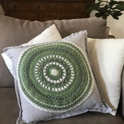 Hand Crochet Cushions - Greens and Grey