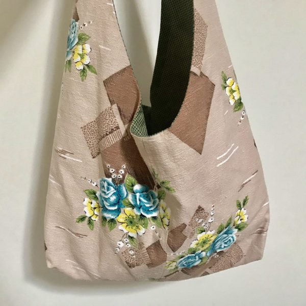 Handmade Slouchy Tote Bag from Vintage Fabric