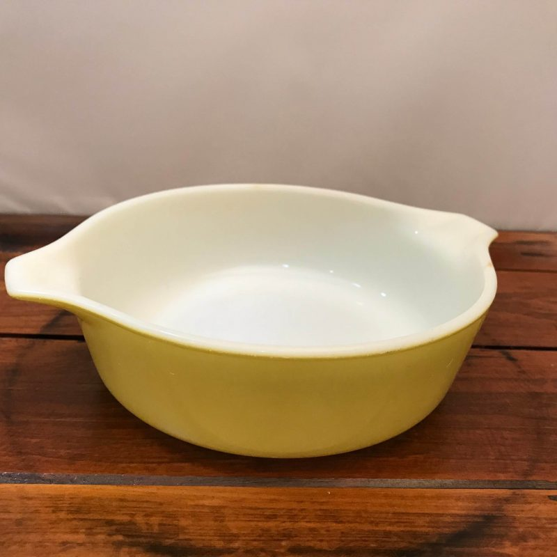 Vintage Yellow Pyrex Bowl with Handle