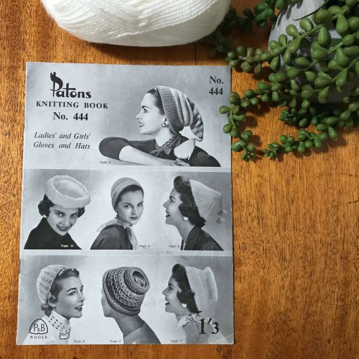 Patons Vintage Knitting Pattern Book No. 444