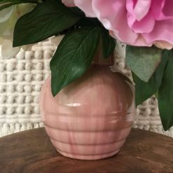 Candy Ware Pottery Pink Vase