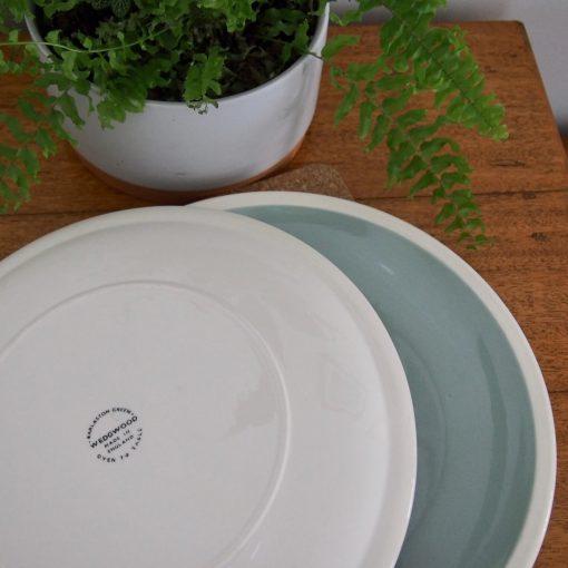 "Vintage Wedgwood ""Barlaston Green"" Dinner Plates"