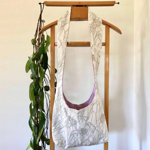 Vintage Fabric Cross Body Bag