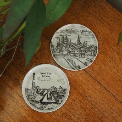 German Village Souvenir Coaster Plates