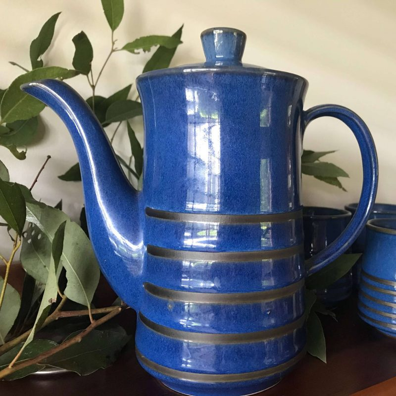 Blue Coffee Pot - Made in Japan