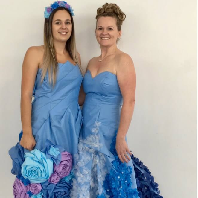 Blue Wrap Couture: Wearable Art