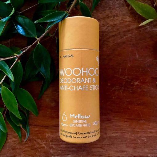 Woohoo Deodorant & Anti-Chafe Stick - Mellow Sensitive Bicarb Free