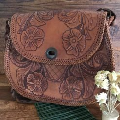 Vintage Tan Leather Handbag