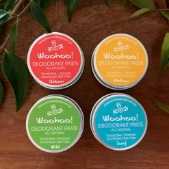 Choose between the Woohoo Detox Bundle or the Woohoo Sample Pack of natural deodorants